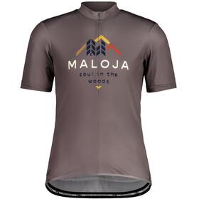 Maloja SchwarzerleM. 1/2 Short Sleeve Bike Jersey Men, stone